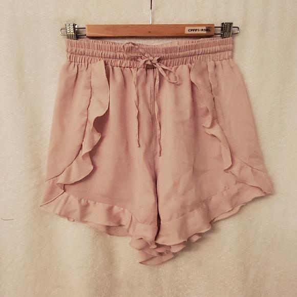 Satin high waist shorts